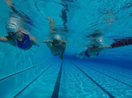 Swimming lesson for beginners