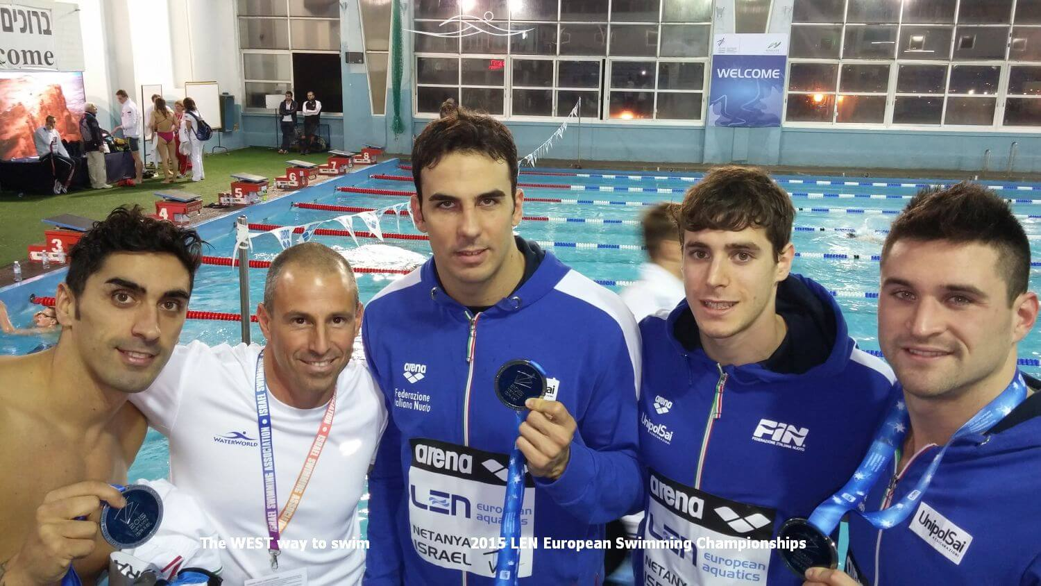 Italian swimming team